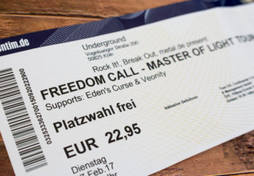 Freedom Call im Underground, Köln. Master Of Light Tour 2017