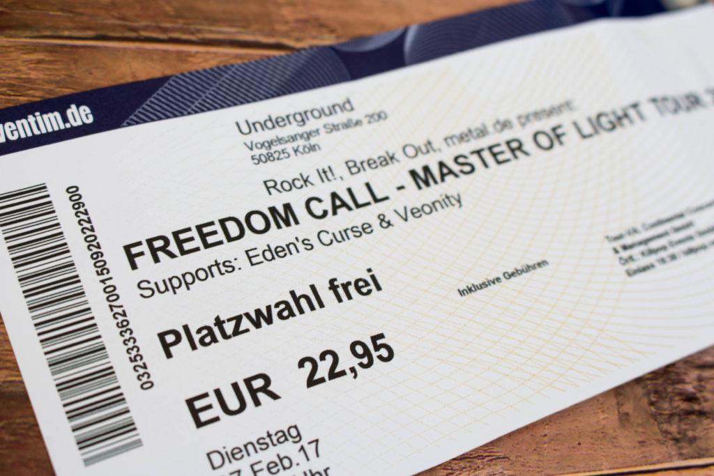 Freedom Call im Underground, Köln. Master Of Light Tour 2017