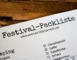 Festival Packliste 2017